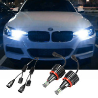 BMW H8 100W CREE LED Angel Eyes Halo Rings Upgrade Light Bulbs Marker Kit 6000K