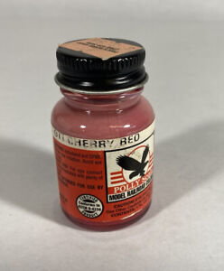 Testors Floquil Polly Scale Paint DTI Cherry Red Full 1 Oz Bottle F414362