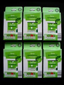 STEVIA SWEETENER TABLETS - 6 PACKS (100 TABLETS PER PACK) 0 CALORIES, NEW.