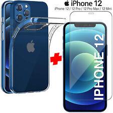 Cover Per iPhone 12 Pro Max Mini + Pellicola Vetro Temperato Custodia Silicone