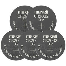 5 x Maxell Lithium CR2032 batteries Coin Cell 3V BR2032 DL2032 ERC2032