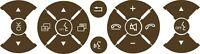 Mercedes-Benz  C klasse E klasse steering wheel button repair set of stickers