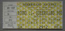V8 Queensland 500 Queensland Raceway Ipswich Sun 10 Sep 2000 Motor Racing Ticket