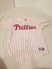 Majestic OS Philadelphia Phillies Ryan Howard #6 Jersey MLB Red White Pinstripe