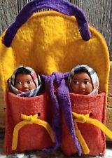 VINTAGE SKOOKUM NATIVE AMERICAN TWIN BABY DOLLS