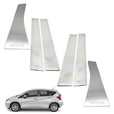 Door Pillar Sill Trim Stainless Steel 6 Pc For Nissan Note 2016 - 2018