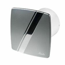 Silent Bathroom Extractor Fan 100mm with Timer Modern Silver / Chrome Ventilator