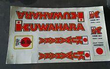 NOS OLD SCHOOL BMX KUWAHARA decal sticker