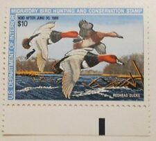 1987 Scott RW54 U. S. Federal $10. Red Head Ducks one new duck stamp