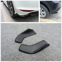 2pcs Car Bumper Spoiler Rear Lip Diffuser Wrap Angle Shovel Anti Scratch Winglet