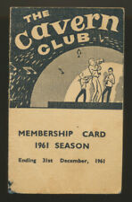 Beatles ULTRA RARE 1961 ' CAVERN CLUB ' MEMBERSHIP BOOKLET! FIRST 1961 OFFERED!