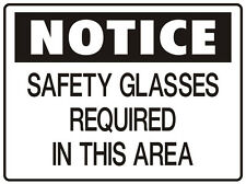 """SIGN """"SAFETY GLASSES REQUIRED IN THIS AREA 5mm corflute 300MM X 225MM"""""""
