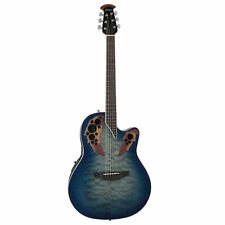 Ovation Celebrity Elite Shallow, Acoustic Electric Guitar, Blue/Natural Burst