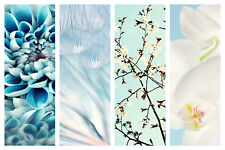 STUNNING BLUE WHITE FLORAL CANVAS COLLAGE #14 QUALITY FLORAL HOME DECOR CANVAS