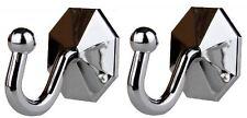 2 Curtain Tieback Self Adhesive Silver Plastic Stick Sticky Hooks Tassel Holders