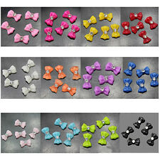 60x Decorative 3D Glitters Tie Butterfly Bow Rhinestone Nail Art Tips DIY