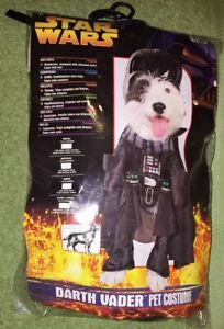 Sz M - Dog Costume - Star Wars Earth Vader Outfit