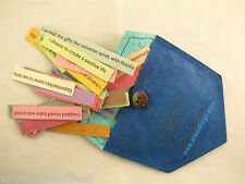 AFFIRMATION CARDS on multicoloured card in a silk paper pocket 31  (is;ps153)