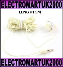 TV MONO MAGNETIC EARPHONE  EARPIECE HEADPHONE LONG 5M