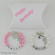 Baby Girl/Daughter 1st 2nd 3rd 4th 5th Birthday Charm Personalised Bracelet Gift