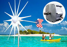 Patriot 12 V DC 1600 W Wind Turbine Generator PMA +180A Slip Ring + Hub+12 Blade