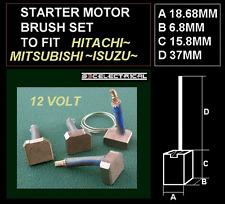 NEW STARTER MOTOR BRUSHES BRUSH SET FITS NISSAN HITACHI ISUZU MITSUBISHI ETC