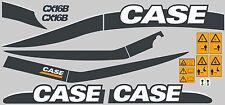 CASE CX16B MINI DIGGER COMPLETE DECALS STICKER SET