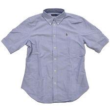 Polo Ralph Lauren Womens Button Down Oxford Short Sleeve Shirt Pony Logo New
