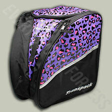 Transpack Edge Ski/Snowboard Boot and Helmet Junior Gear Backpack - Leopard(NEW)