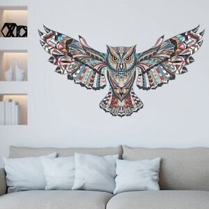 Removable Colorful Owl Wall Decals Vinyl Wall Stickers Self Adhesive Decor