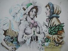 Vintage 1900 POSTCARD Ladies gossip visit at market place Best Friends!! shop *