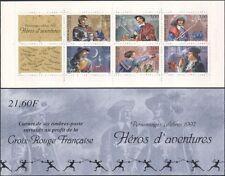 FRANCE 1997 Croix Rouge fonds/Livres/HEROES/ESCRIME/chevaliers/CHEVAUX 6 V Bklt (b10019c)