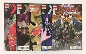 MARVEL COMICS COMPLETE SET OF WOLVERINE AND THE X-MEN ALPHA & OMEGA #1-5