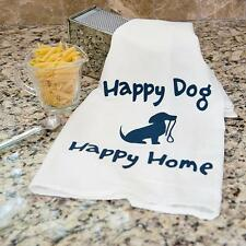 """100% Pre-washed Cotton Kitchen Towel 28"""" x 29"""" - Happy Dog Happy Home"""