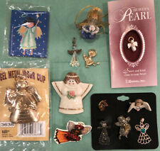 Lot of Misc Angels Ornaments Pendants Pins Costume Jewelry Visor Clip Magnet