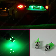1 Pair Green LED License Plate Light Bulbs BULB 10SMD T10 194 168 W5W WEDGE
