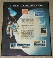 VINTAGE USPS MATTED SPACE EXPLORATION 7 STAMP COLLECTION / SET