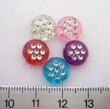Acrylic Multi 10 - 10.9 mm Size Jewellery Making Craft Beads