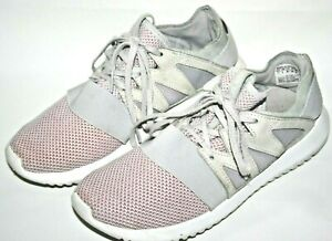 Adidas Tubular Women's Grey Pink Running Gym Trainers Sneakers Shoes Size 6UK