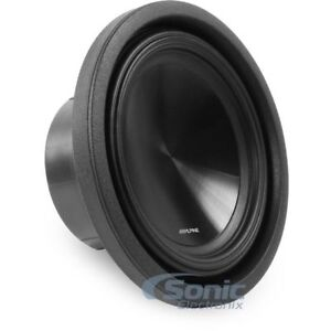 """ALPINE 1000W 10"""" SWT Series Single 2-ohm Shallow Mount Car Subwoofer 
