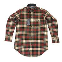 Ralph Lauren Men's Classic Fit Plaid Twill Winter Shirt In Red/Muli