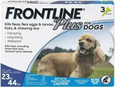 Frontline Plus Flea and Tick Treatment for Dogs 3 3 Doses, Blacks & Grays