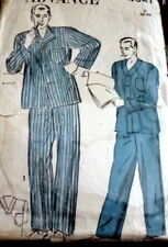 *VTG 1940s MENS PAJAMAS ADVANCE Sewing Pattern Large CHEST42-44