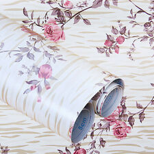 Vintage Peony Contact Paper Self Adhesive Floral Wall Sticker Living Room Decor