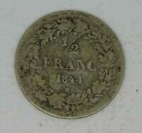 Silver Belgium - Leopold I - 1/2 Franc 1844,star, Coin, 19th century, Scarce