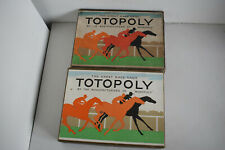 2 VINTAGE 1956 TOTOPOLY BOARD GAMES BY WADDINGTONS -  GOOD CONDITION