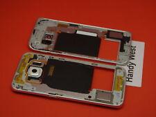 Samsung Galaxy S6 Edge SM-G925F Mittelrahmen Frame Kamera Glas Power Flex Weiß