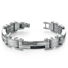 Sophisticated & Stylish Heavy Duty Stainless Steel Mens Bracelet