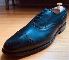 Allen Edmonds 'Stratton' Black Calf Oxford Captoe Shoes 10C Made in USA Strand