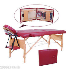 "Soozier 2.5"" Thick Portable Massage Table Bed Adjustable Couch Spa w/ Carry Bag"
